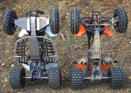 Which one would you rather have if you were riding on rutted-out, rocky cross-country trails?