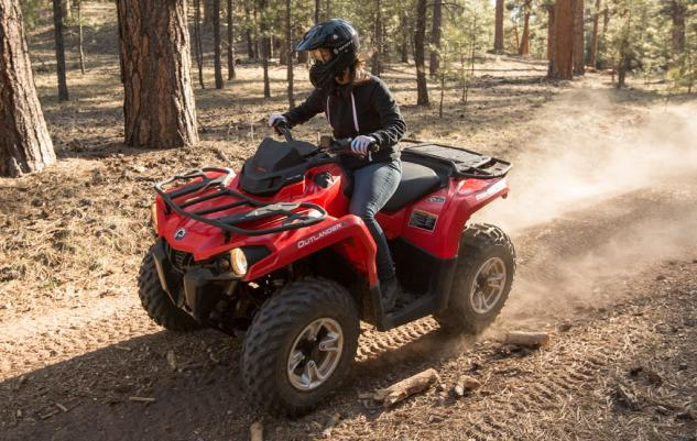2015 Can-Am Outlander L 500 Action