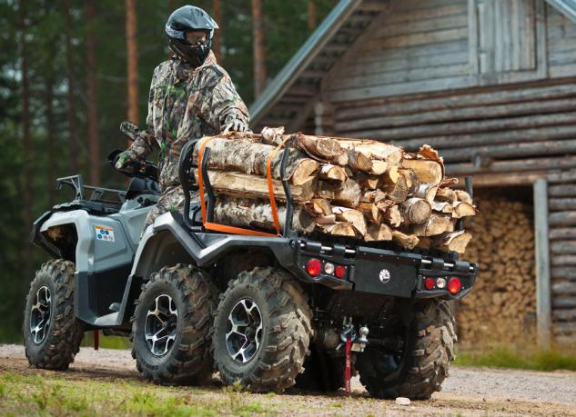 2015 Can-Am Outlander 6x6 Action Rear