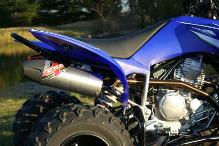 The Dubach Racing Development competition exhaust gave our Raptor 250 more power and deeper sound.