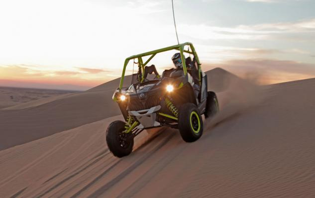 2015 Can-Am Maverick X ds Turbo Action Front