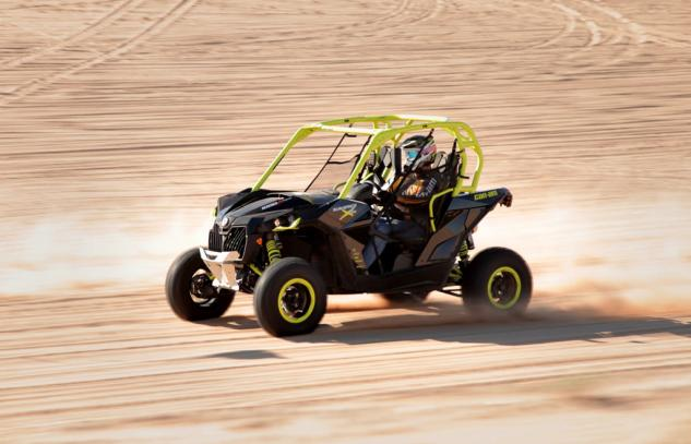 2015 Can-Am Maverick X ds Turbo Action High Speed