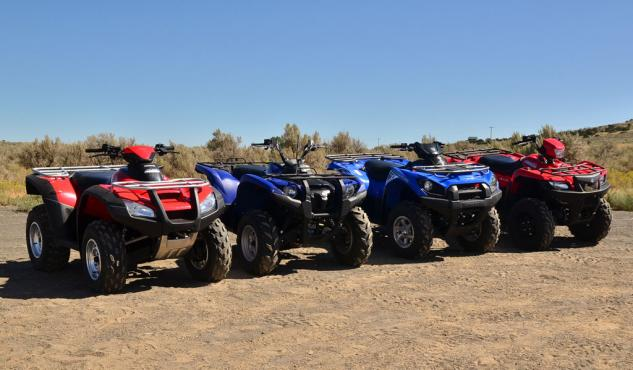 2014 Japanese Big Bore ATVs Group Front