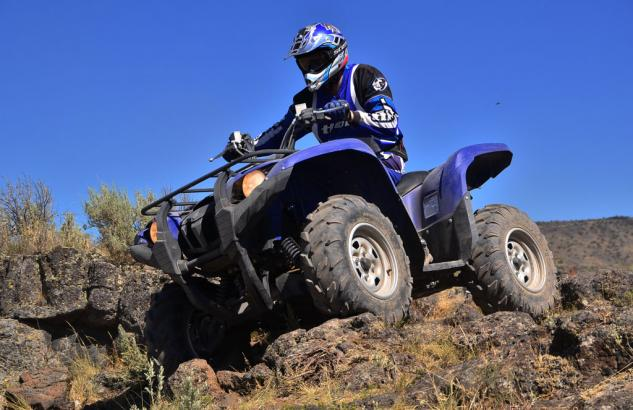 2014 Yamaha Grizzly 700 EPS Rock Crawling