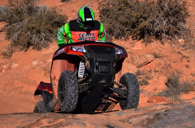 2015 Arctic Cat XR ATV Action Rock Crawling