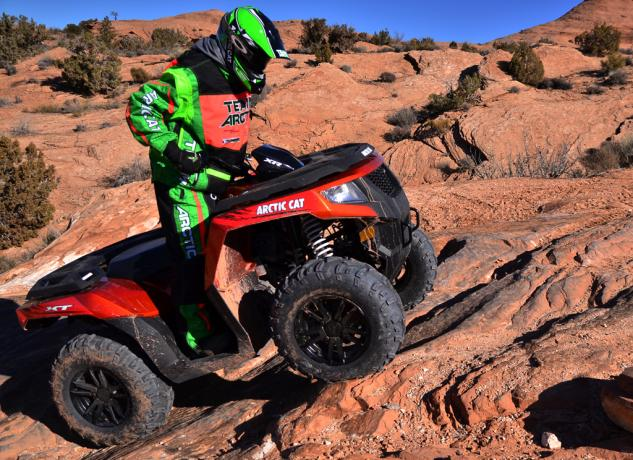 2015 Arctic Cat XR ATV Action Climbing