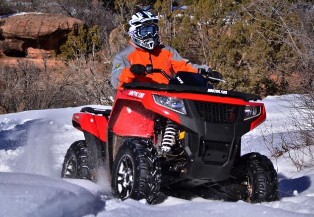 2015 Arctic Cat XR ATV Action Snow