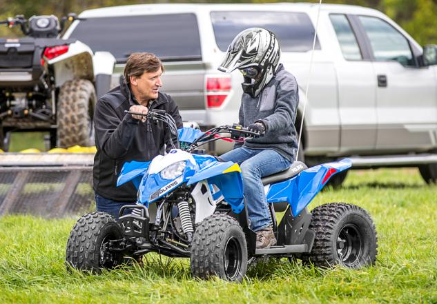 2016 Polaris Outlaw 110 Action