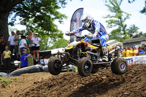 Chad Wienen won the first moto on his way to another podium finish.