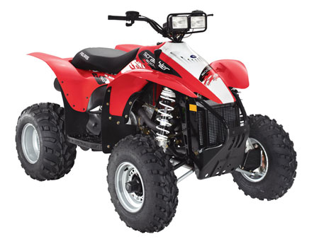 The Scrambler was initially designed as sort of a utility/sport quad crossover. That same concept has since been applied to the Can-Am Renegade 500 and 800 and the Yamaha Wolverine 450.