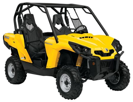 The Can-Am Commander 800R is the lowest spec of the five available models for 2011. MSRPs have not yet been released.