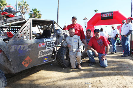 The Sportsman UTV class winners, left to right: Larry Roeseler, Reid Nordin, Todd Romano and Hans Waage.