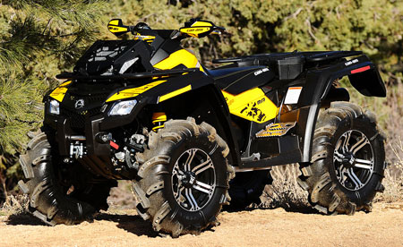 The Outlander 800R X mr is Can-Am�s first mud-specific machine.