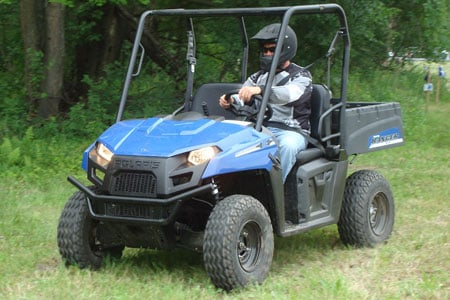 The first of its kind from a major ATV manufacturer, the Polaris Ranger EV is an all electric side-by-side.