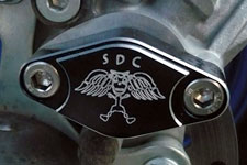SDC billet parking brake block off