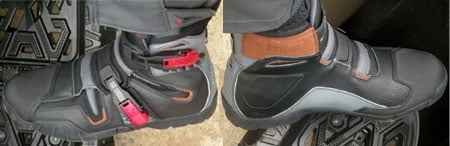 These look and feel a lot more like comfortable hiking boots than any other ATV boots we've tried.