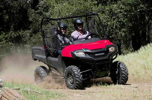 2014 Honda Pioneer 700 Action Cornering