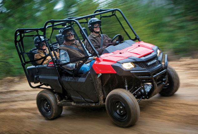 Up To Four People Can Fit In The Honda Pioneer 700 4