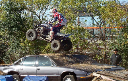 In 2008 attendees got to see utility quads and sport quads do battle on the outdoor track.