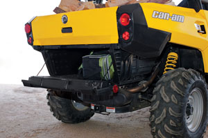The dual-level cargo box offers a unique way to separate what you�re hauling around.