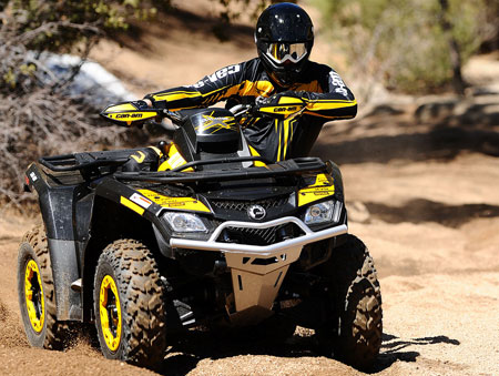 If you�re looking for a race-ready utility ATV, Can-Am offers its new Outlander 800R X xc.