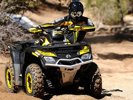 If you're looking for a race-ready utility ATV, Can-Am offers its new Outlander 800R X xc.