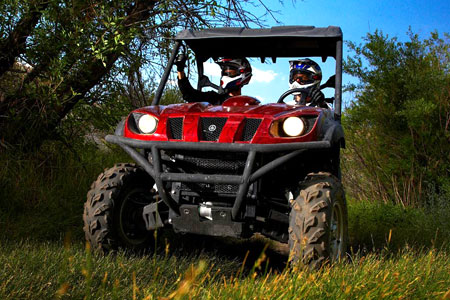 A Rhino is an adult-sized vehicle with power that demands your respect. If you drive with a little care and follow Yamaha's safety recommendations you're as safe in a Rhino as you are in any other adult sized ATV or side-by-side.