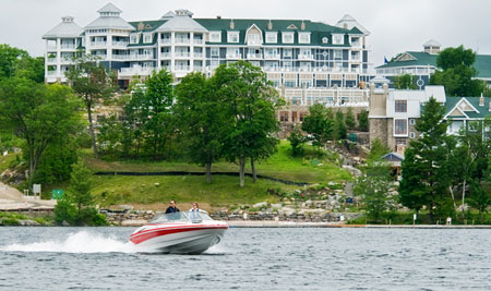 For a little post-ATV pampering, consider Red Leaves Resort on Lake Rosseau.