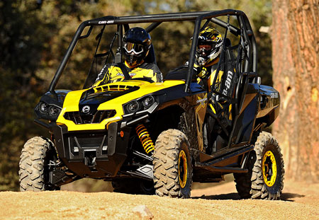 Thanks in large part to its aluminum piggyback shocks from Fox Racing Shox, the Commander 1000 X looks to be Can-Am's answer to the Polaris Ranger RZR S and the Arctic Cat Prowler XTZ 1000.