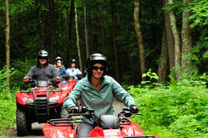 With 1,000 acres to explore, Bear Claw Tours is an ideal way to experience ATV riding on Ontario.