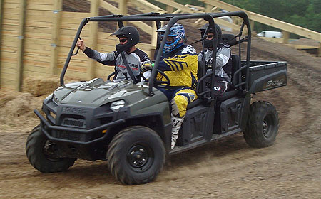 Back-seat passengers have more leg room and the driver has more available power in the Ranger 800 crew.