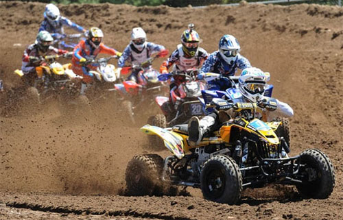 ATV Motocross Racing Crowd