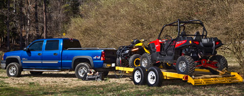 Towing an ATV and  UTV
