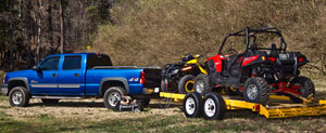 Towing an ATV