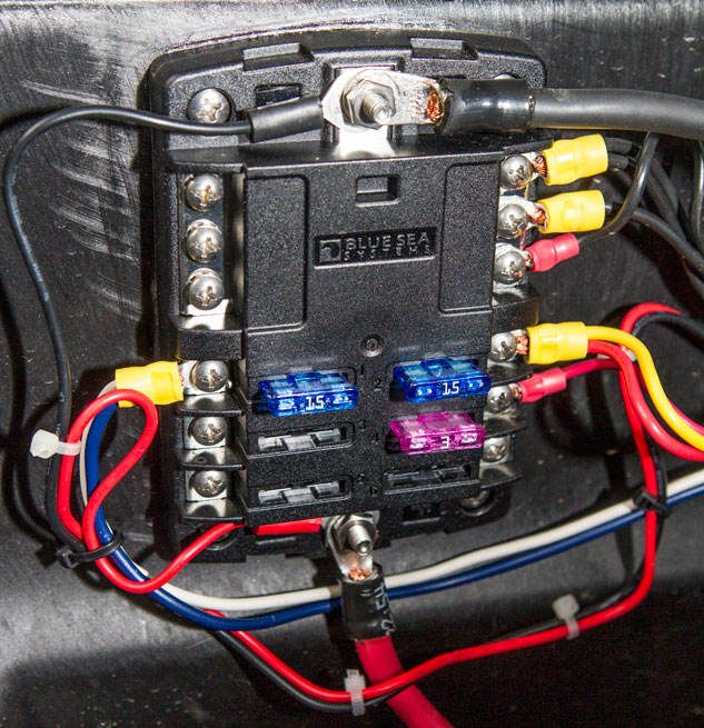 ATV Wiring Marine Fuse Hub basic wiring tips for atvs and utvs atv com Wiring Harness Diagram at gsmportal.co