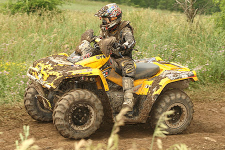 Bryan Buckhannon helped Can-Am clinch the 4x4 Open class championship on his Outlander 800.