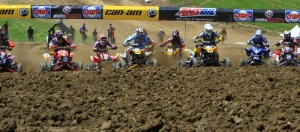 Chad Wienen grabbed the holeshot in moto one and never looked back.