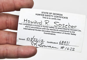 Georgia Hunter Safety Certificate