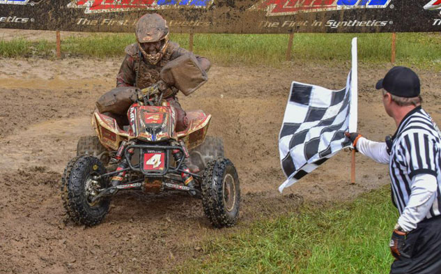 Jarrod McClue takes the checkers for his first career XC1 overall win.
