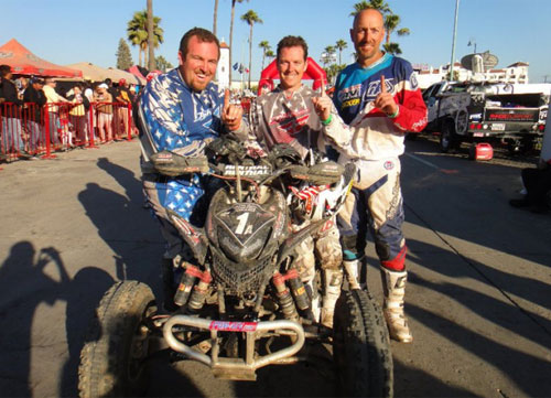 The Matlock Racing team celebrates its victory at the Tecate SCORE Baja 500.