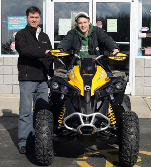 Michael Sowa on his Can-Am Renegade 1000 X xc