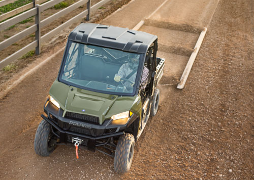 Polaris Ranger XP 900 with Scraper