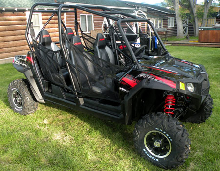 We love the new red and black RZR 4 for 2011.
