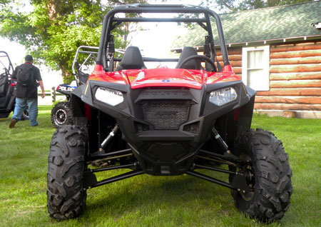The 2011 Ranger RZR S receives new Sachs two-inch shocks, as well as ITP 900 XCT tires.
