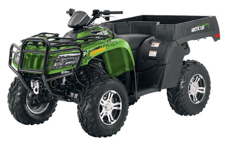 2011 Arctic Cat TBX 700 LTD in Green Metallic