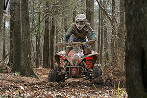 Adam McGill races his KTM on the GNCC Series.