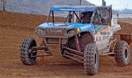 RJ Anderson has taken a commanding lead in the Lucas Off Road Side-by-Side short course series.