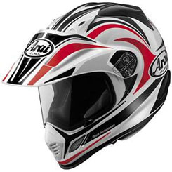 XD-3 ($699.95): Multi-purpose helmet features Complex Laminate Construction/fiberglass composite shell; helmet good for street and off-road riding thanks to removable shield; one-piece liner; emergency cheek pad release. SNELL, DOT approved.
