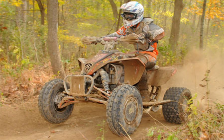 Angel Atwell races to victory at the Ironmann GNCC.