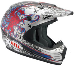 SC-R ($99.95): Composite fiberglass shell; adjustable ventilation; roost guard and goggle grabbers; EPS-lined chinbar; removable/washable liner; five-year warranty. DOT approved.
